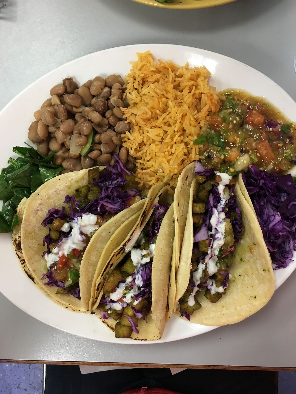 "Photo of Tumerico  by <a href=""/members/profile/Winedunce"">Winedunce</a> <br/>Incredibly delicious eggplant tacos  <br/> December 23, 2017  - <a href='/contact/abuse/image/83572/338259'>Report</a>"