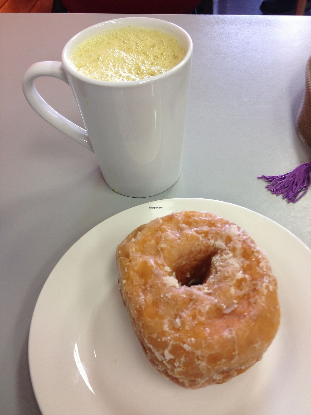 "Photo of Tumerico  by <a href=""/members/profile/AutumnTierra"">AutumnTierra</a> <br/>Vegan donut and chai <br/> December 31, 2017  - <a href='/contact/abuse/image/83572/341388'>Report</a>"