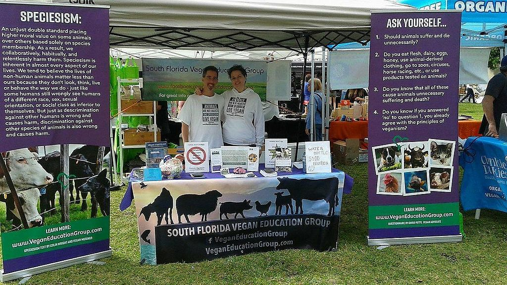"Photo of South Florida Vegan Education Group  by <a href=""/members/profile/veganmusician"">veganmusician</a> <br/>Palm Beach VegFest 2017 <br/> November 1, 2017  - <a href='/contact/abuse/image/83633/320629'>Report</a>"