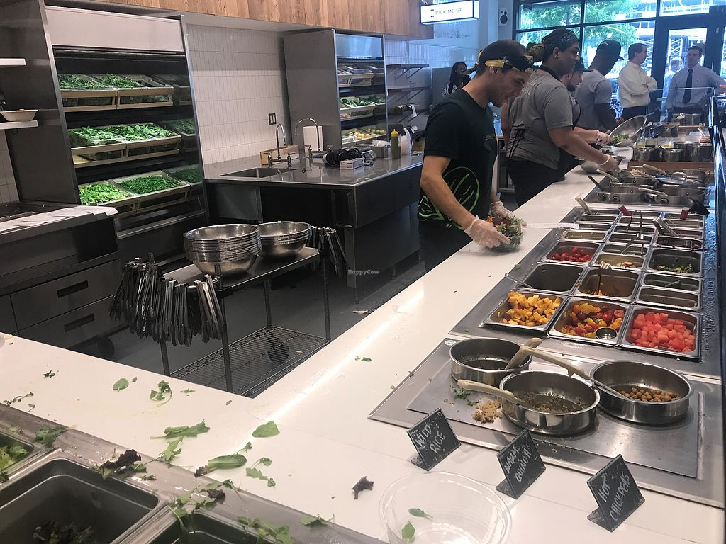"""Photo of sweetgreen  by <a href=""""/members/profile/TheAllisonBauer"""">TheAllisonBauer</a> <br/>Lunch assembly line style <br/> September 18, 2017  - <a href='/contact/abuse/image/83638/305806'>Report</a>"""