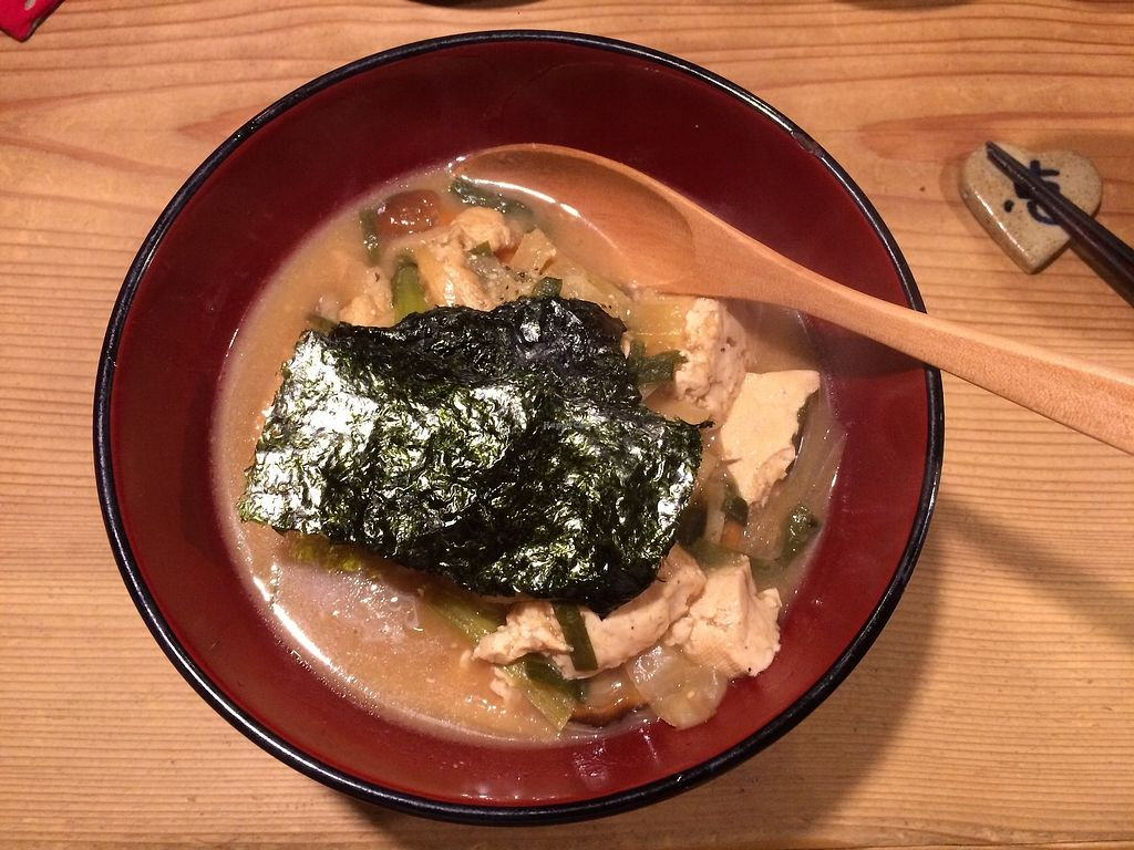 """Photo of Megumi  by <a href=""""/members/profile/TheFitFlightattendant"""">TheFitFlightattendant</a> <br/>Vegan miso soup  <br/> July 18, 2017  - <a href='/contact/abuse/image/83651/281924'>Report</a>"""