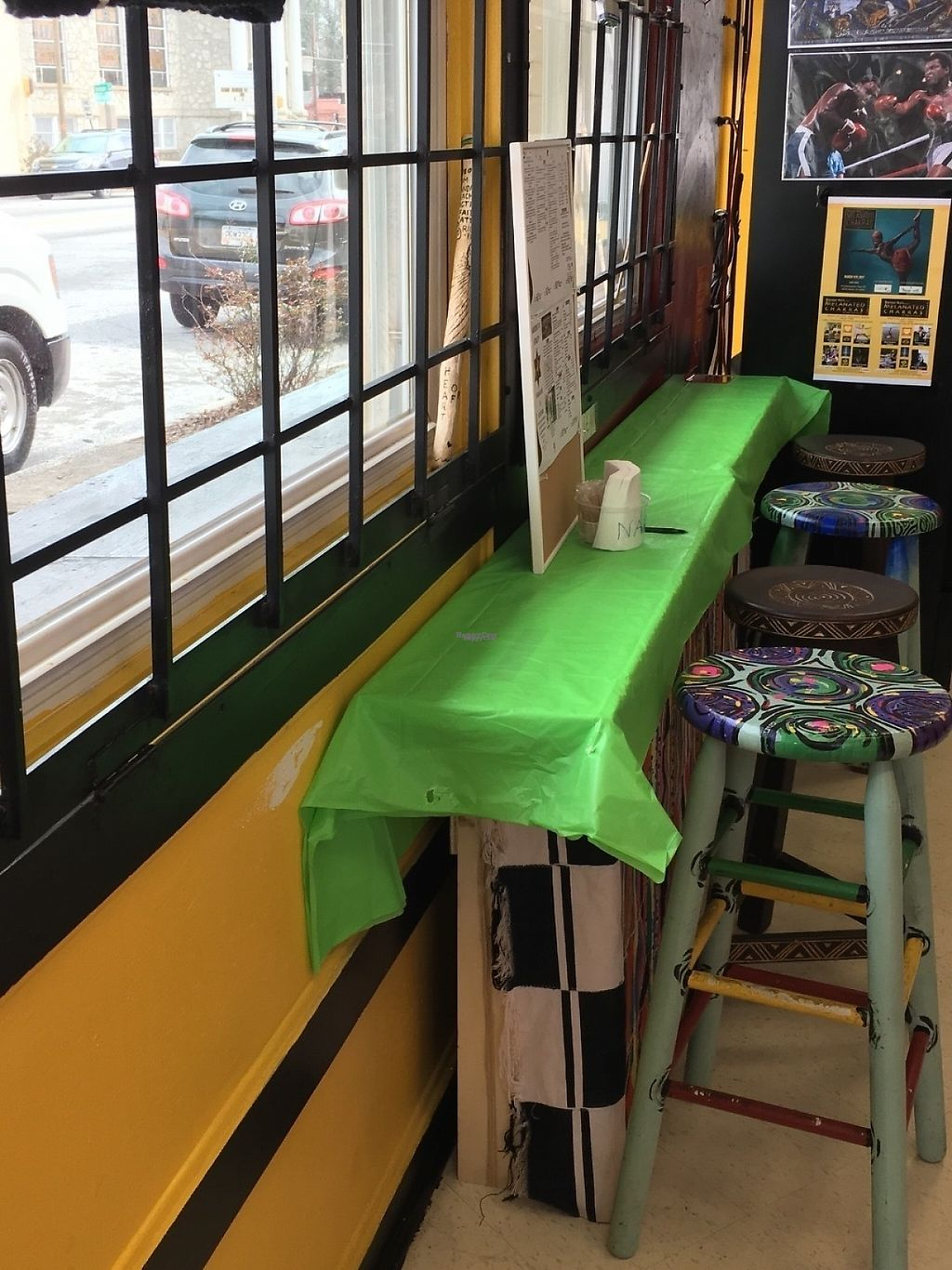 """Photo of KarbonStar Vitality Vegan Cafe & Juice Bar  by <a href=""""/members/profile/cookiem"""">cookiem</a> <br/>Seating <br/> February 21, 2017  - <a href='/contact/abuse/image/83655/228911'>Report</a>"""