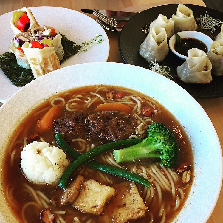 "Photo of The Origin  by <a href=""/members/profile/nicole_m"">nicole_m</a> <br/>Noodle soup, vege rolls and dumplings  <br/> June 14, 2017  - <a href='/contact/abuse/image/83663/268914'>Report</a>"