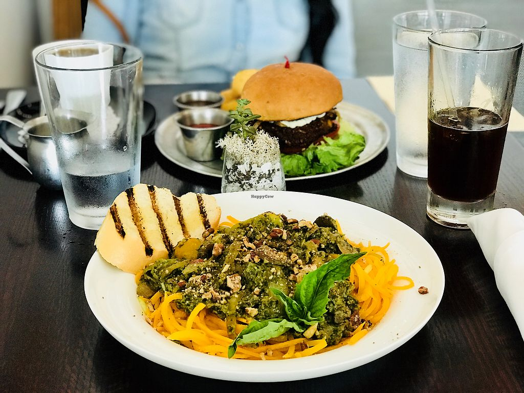 "Photo of Citizen Eatery  by <a href=""/members/profile/Kri_Childs"">Kri_Childs</a> <br/>Assam burger with yucca fries, and veggie pasta noodles (gluten free) <br/> April 1, 2018  - <a href='/contact/abuse/image/83679/379435'>Report</a>"