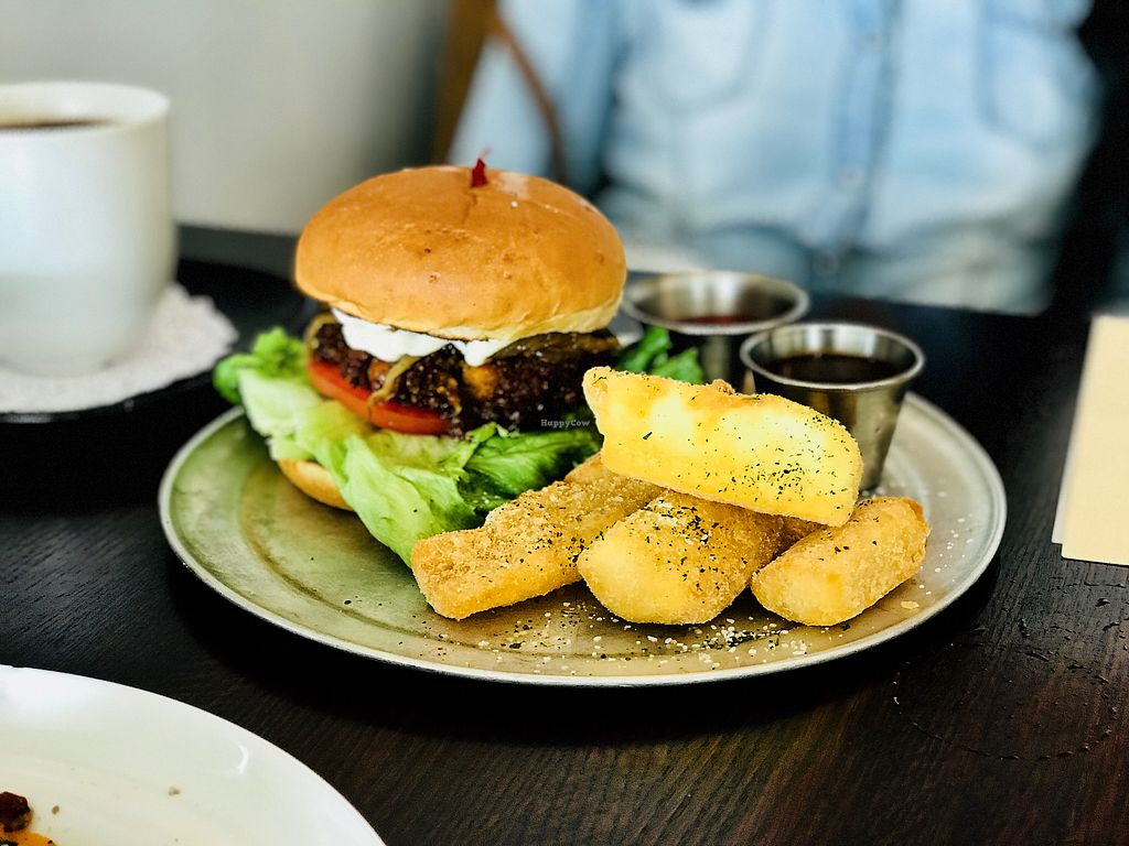 "Photo of Citizen Eatery  by <a href=""/members/profile/Kri_Childs"">Kri_Childs</a> <br/>Vegan Assam Burger (Indian Spiced Chickpea Burger) <br/> April 1, 2018  - <a href='/contact/abuse/image/83679/379572'>Report</a>"