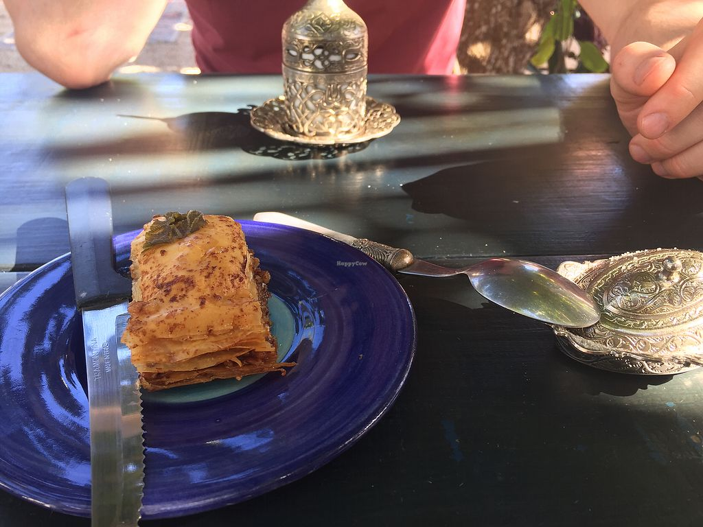 """Photo of Pasha Turkish & Arabic Cuisine  by <a href=""""/members/profile/SinzianaK"""">SinzianaK</a> <br/>Baklava and Turkish coffee in the background  <br/> December 14, 2017  - <a href='/contact/abuse/image/83688/335520'>Report</a>"""