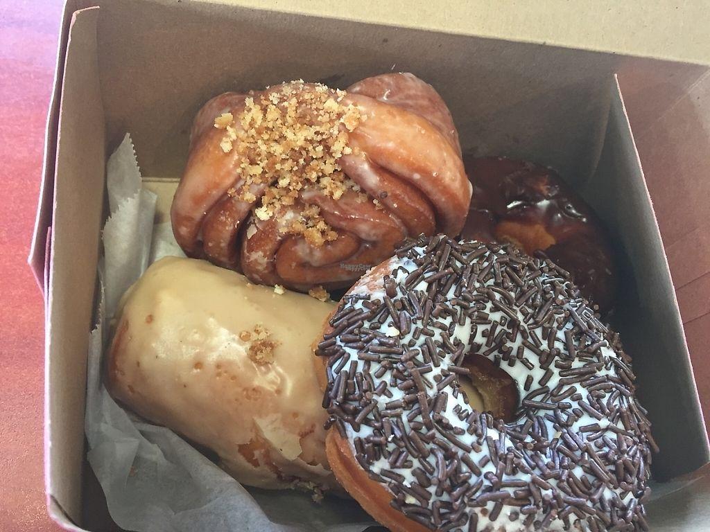 "Photo of CLOSED: Vegan Donut Gelato  by <a href=""/members/profile/Bri_vegan"">Bri_vegan</a> <br/>Yummy donuts! <br/> December 9, 2016  - <a href='/contact/abuse/image/83693/198754'>Report</a>"