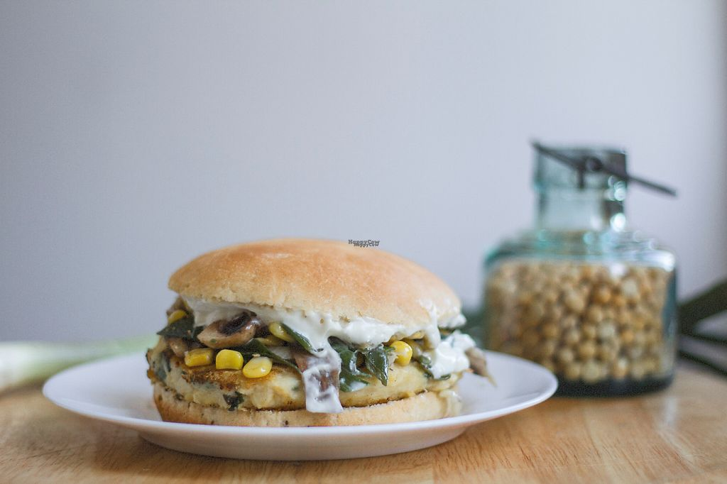 """Photo of Arvoleda  by <a href=""""/members/profile/Aaron.Barvc"""">Aaron.Barvc</a> <br/>This is a 100% vegan chickpeas burguer with mushrooms, corn, chives and homemade mayonnaise. It taste like heaven  <br/> January 24, 2017  - <a href='/contact/abuse/image/83703/215593'>Report</a>"""
