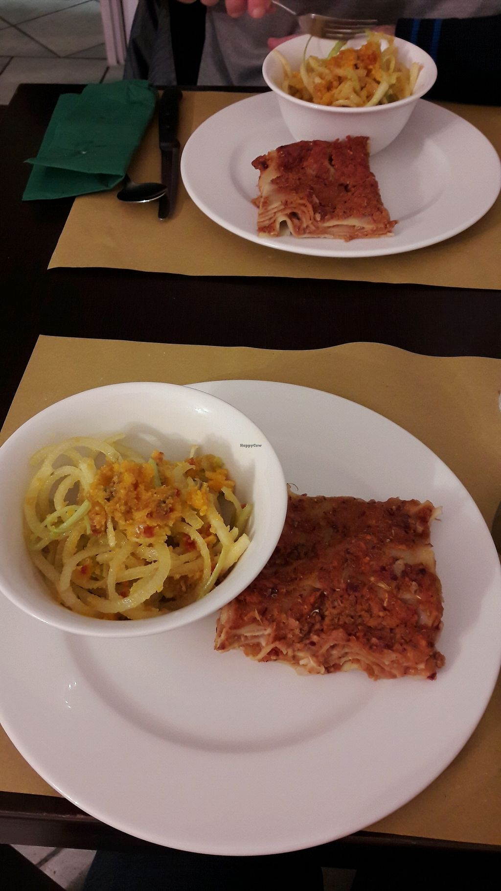 "Photo of Un'Altra Idea  by <a href=""/members/profile/KristM"">KristM</a> <br/>Lasagne & raw veggies <br/> March 10, 2018  - <a href='/contact/abuse/image/83717/368995'>Report</a>"