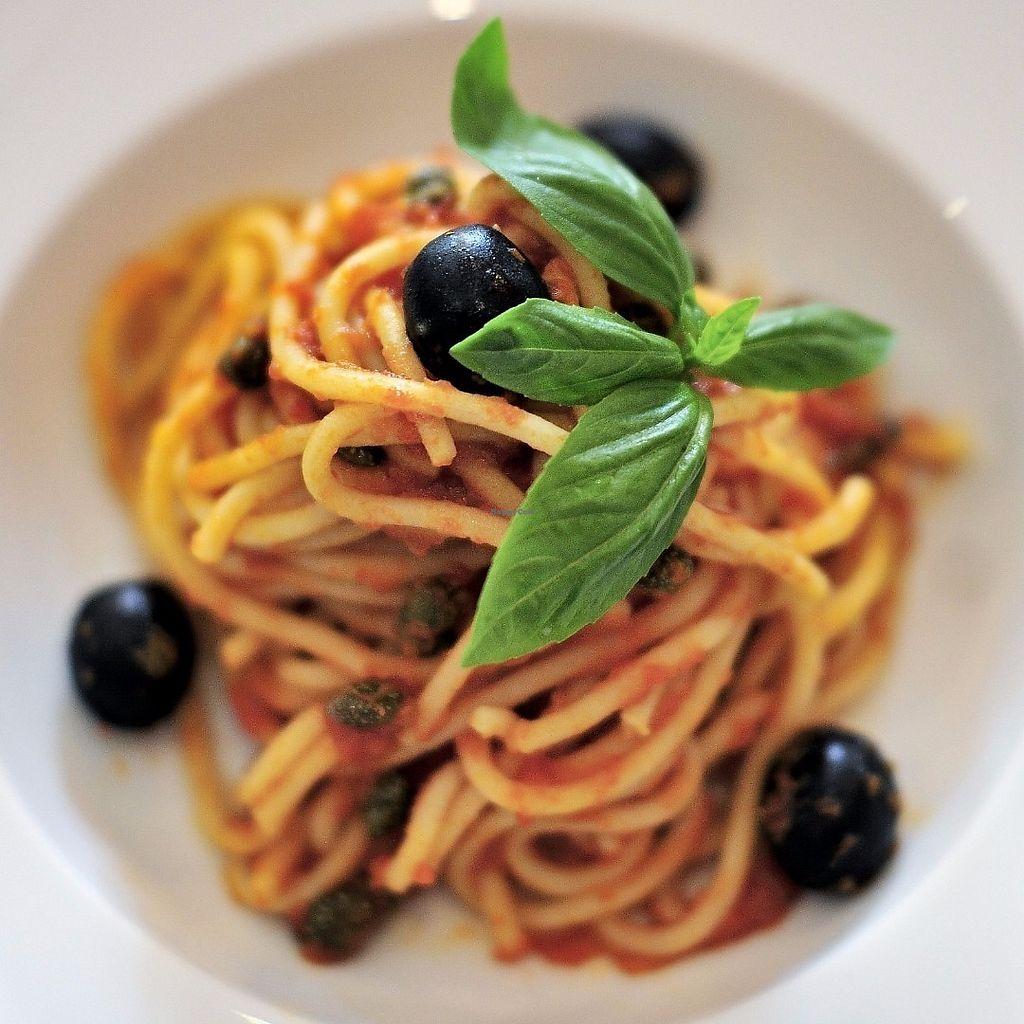 "Photo of La Pasta  by <a href=""/members/profile/Cambobby"">Cambobby</a> <br/>Vegan Spaghetti Puttanesca <br/> June 14, 2017  - <a href='/contact/abuse/image/83737/268982'>Report</a>"