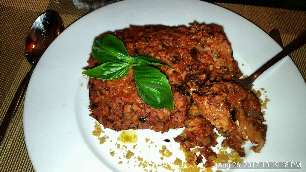 """Photo of La Pasta  by <a href=""""/members/profile/ThomNibbelin"""">ThomNibbelin</a> <br/>Vegan Lasagna <br/> August 30, 2017  - <a href='/contact/abuse/image/83737/299236'>Report</a>"""