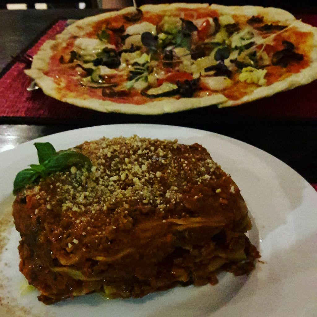 """Photo of La Pasta  by <a href=""""/members/profile/NikitaConnie"""">NikitaConnie</a> <br/>Vegan Lasagne & Vegan Pizza! <br/> December 13, 2017  - <a href='/contact/abuse/image/83737/335154'>Report</a>"""