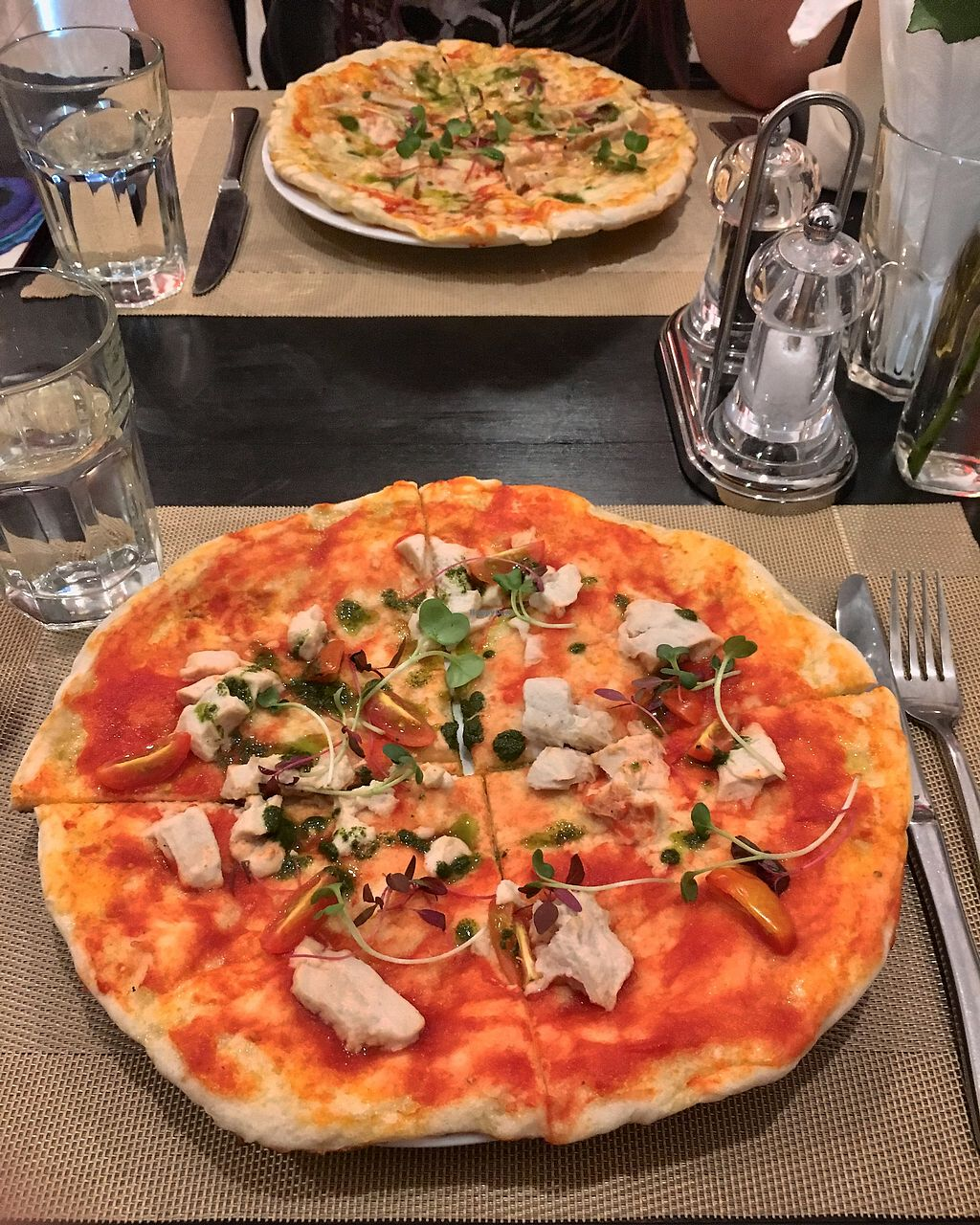 """Photo of La Pasta  by <a href=""""/members/profile/CamilaSilvaL"""">CamilaSilvaL</a> <br/>Pesto pizza  <br/> February 4, 2018  - <a href='/contact/abuse/image/83737/354850'>Report</a>"""