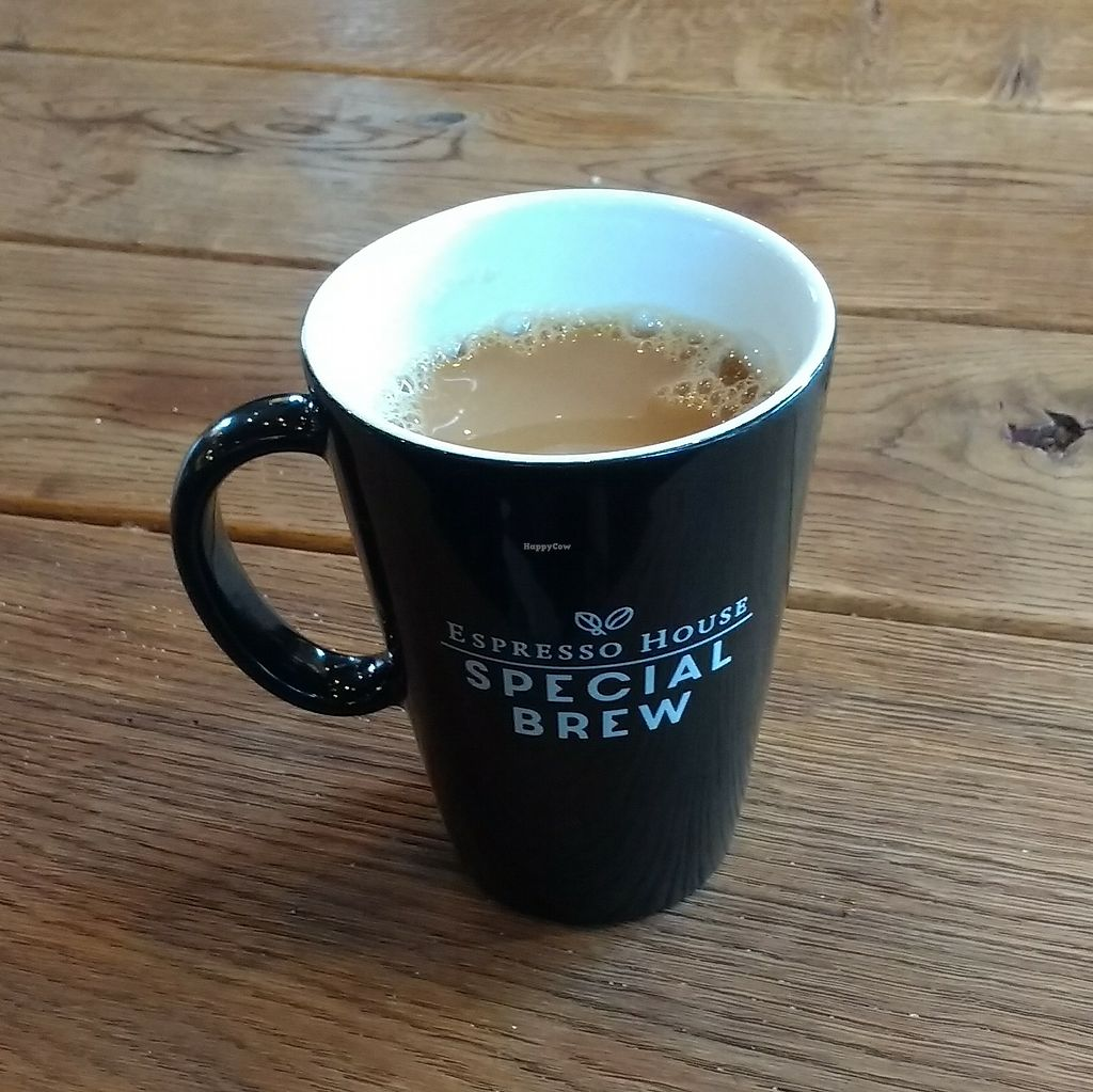 "Photo of Espresso House  by <a href=""/members/profile/VeganSquid"">VeganSquid</a> <br/>Coffee With Soy Milk  <br/> August 4, 2017  - <a href='/contact/abuse/image/83743/288510'>Report</a>"