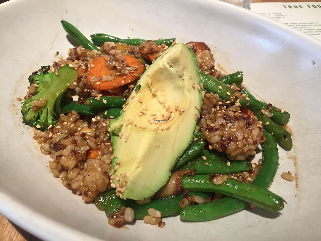 """Photo of True Food Kitchen  by <a href=""""/members/profile/VeganCookieLover"""">VeganCookieLover</a> <br/>Teriyaki quinoa  <br/> April 16, 2018  - <a href='/contact/abuse/image/83755/386666'>Report</a>"""