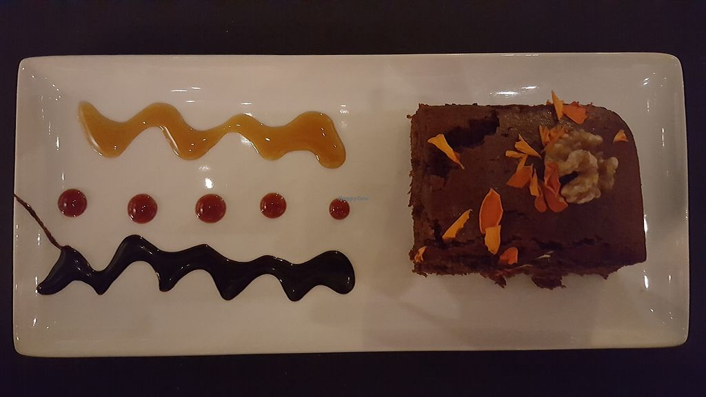 """Photo of The Gourmet Market  by <a href=""""/members/profile/VeganAnnaS"""">VeganAnnaS</a> <br/>Cake included as the dessert in the vegan tapas menu <br/> September 10, 2017  - <a href='/contact/abuse/image/83764/302909'>Report</a>"""