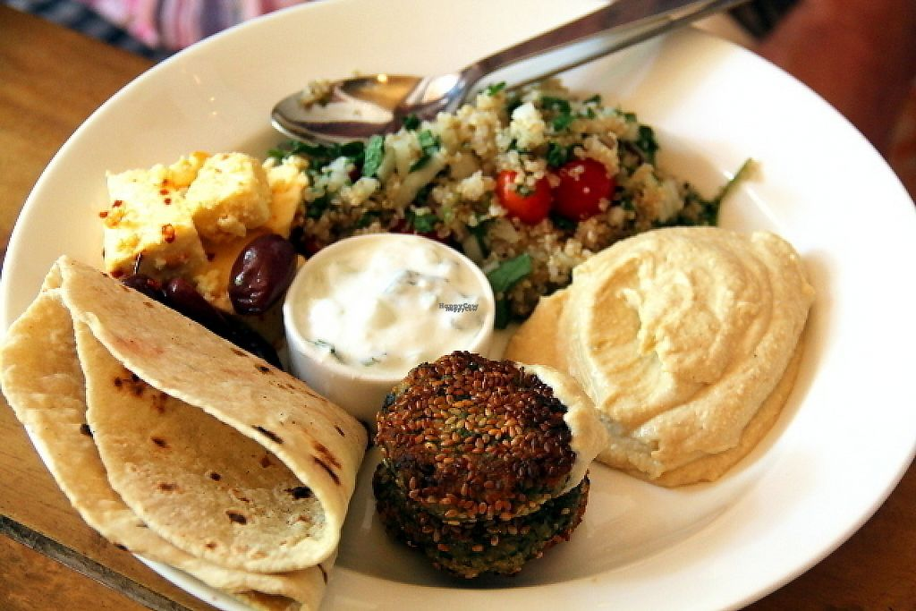 "Photo of Zest  by <a href=""/members/profile/reissausta%20ja%20ruokaa"">reissausta ja ruokaa</a> <br/>Meze plate. This doesn´t look vegan so you need to try to ask to replace some items.  <br/> December 14, 2016  - <a href='/contact/abuse/image/83770/201021'>Report</a>"