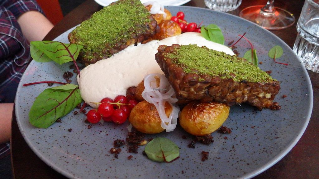 "Photo of Vaxthuset  by <a href=""/members/profile/deadpledge"">deadpledge</a> <br/>Stockholmstempeh, potatoes, rye, currents, onion foam, garlic mustard <br/> August 19, 2017  - <a href='/contact/abuse/image/83775/294244'>Report</a>"