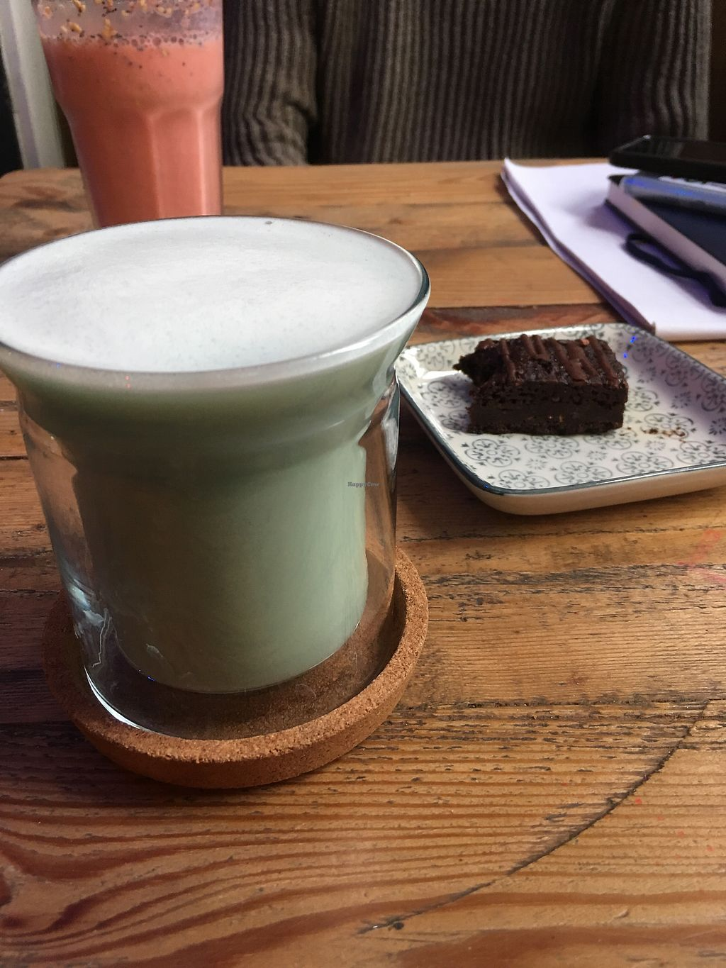 """Photo of CLOSED: Folks and Fables  by <a href=""""/members/profile/KitKat1350"""">KitKat1350</a> <br/>Mermaid latte and brownie <br/> February 5, 2018  - <a href='/contact/abuse/image/83778/355348'>Report</a>"""