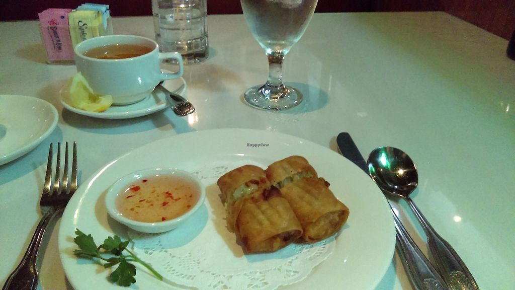 """Photo of Sweet Basil Thai Cuisine  by <a href=""""/members/profile/thereallunchgirl"""">thereallunchgirl</a> <br/>Spring rolls <br/> May 29, 2017  - <a href='/contact/abuse/image/83787/263658'>Report</a>"""