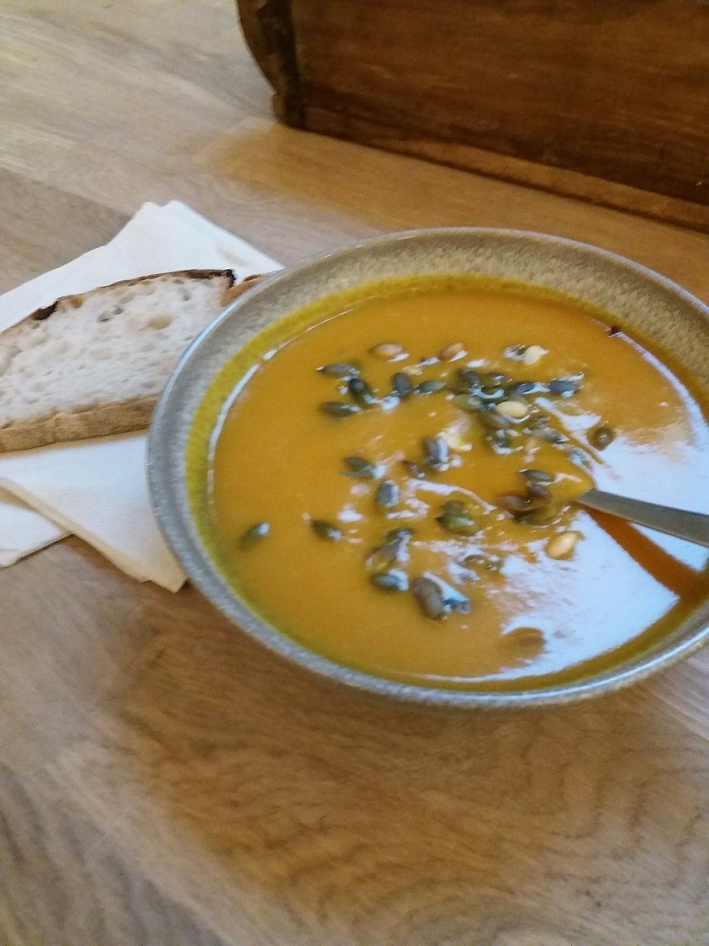 """Photo of California Kitchen  by <a href=""""/members/profile/Smoelfine"""">Smoelfine</a> <br/>Seasonal soup (pumpkin) <br/> December 12, 2016  - <a href='/contact/abuse/image/83788/200189'>Report</a>"""