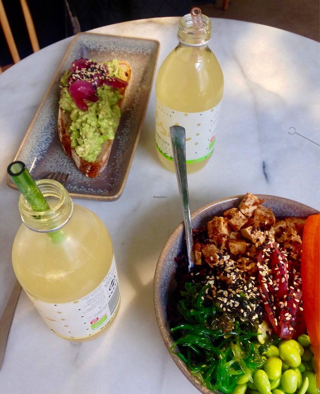 """Photo of California Kitchen  by <a href=""""/members/profile/KatjaValentinaKramp"""">KatjaValentinaKramp</a> <br/>Asian bowl and smashed avo toast <br/> January 29, 2018  - <a href='/contact/abuse/image/83788/352463'>Report</a>"""