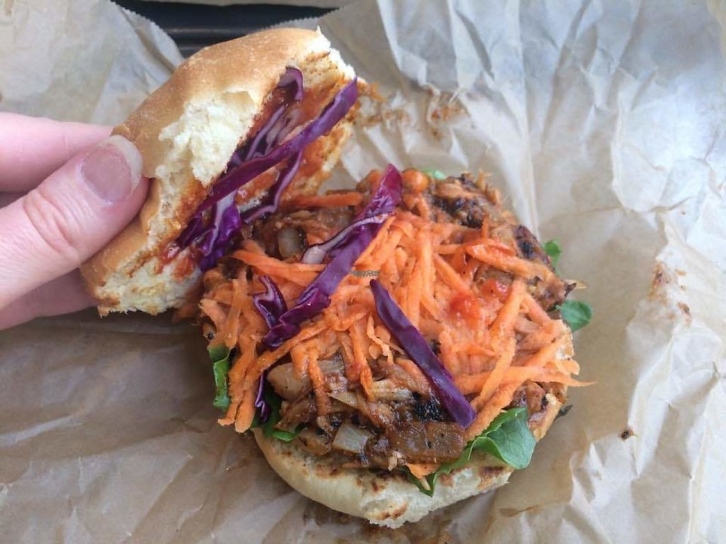 """Photo of Season Square  by <a href=""""/members/profile/LisaCupcake"""">LisaCupcake</a> <br/>BBQ jackfruit sandwich <br/> March 12, 2017  - <a href='/contact/abuse/image/83791/235402'>Report</a>"""
