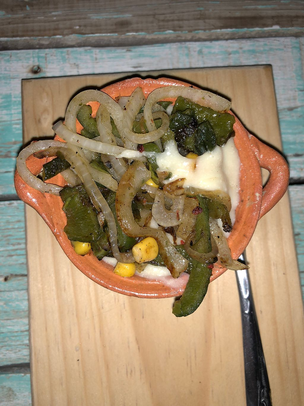 """Photo of La Rana Vegana  by <a href=""""/members/profile/RyanPamplin"""">RyanPamplin</a> <br/>Cheese Fondue we put on everything - OMG! <br/> January 21, 2018  - <a href='/contact/abuse/image/83802/349491'>Report</a>"""