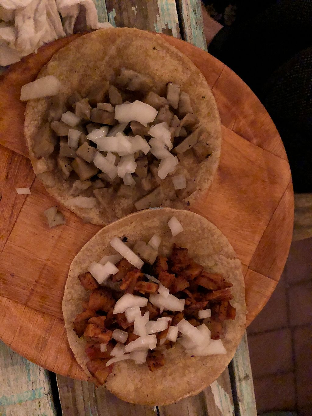 """Photo of La Rana Vegana  by <a href=""""/members/profile/RyanPamplin"""">RyanPamplin</a> <br/>Asada and Pastor Tacos - excellent with verde salsa <br/> January 21, 2018  - <a href='/contact/abuse/image/83802/349492'>Report</a>"""