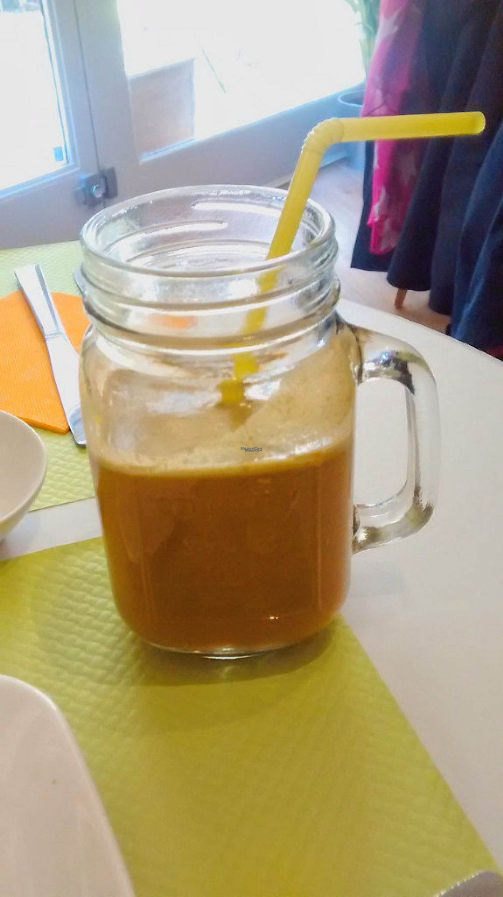 """Photo of L'Essentiel Saveurs Crues  by <a href=""""/members/profile/JonJon"""">JonJon</a> <br/>Juice with tomatoe, celery, carrot, ginger <br/> December 10, 2016  - <a href='/contact/abuse/image/83809/198989'>Report</a>"""