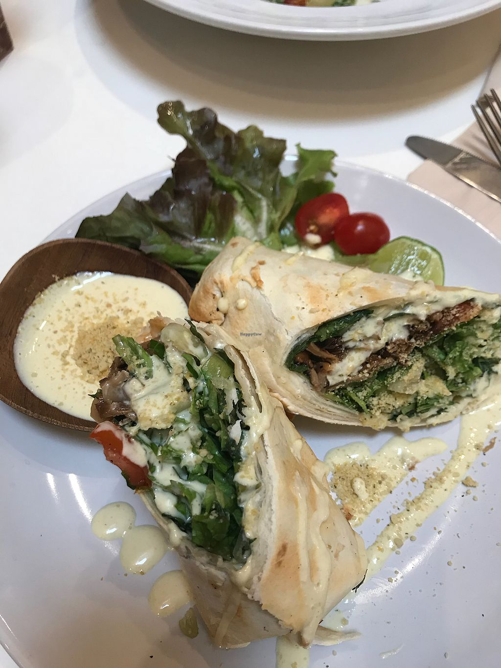 """Photo of Veganerie - Siam Paragon  by <a href=""""/members/profile/ellehir"""">ellehir</a> <br/>Caesar Wrap with mushrooms extremely tasty <br/> December 3, 2017  - <a href='/contact/abuse/image/83823/331832'>Report</a>"""