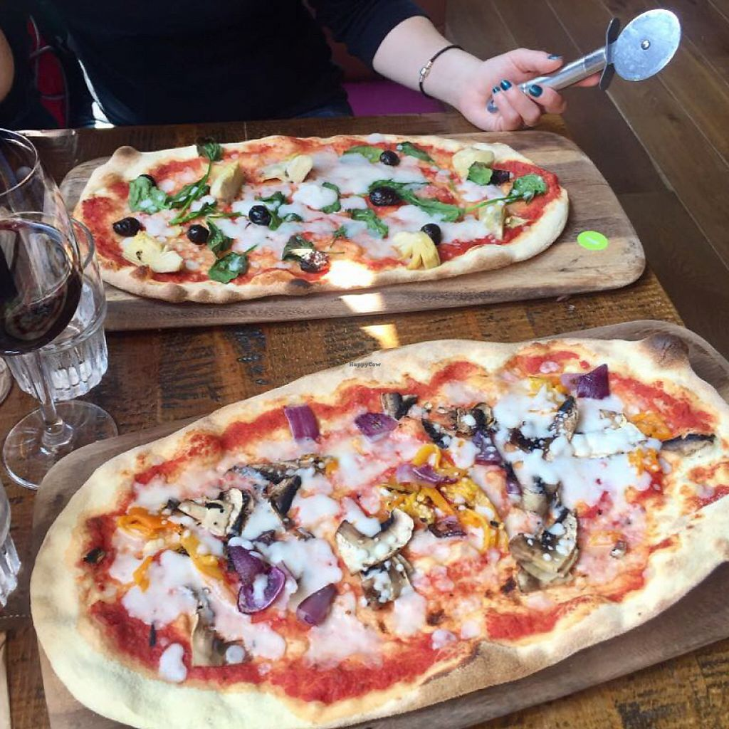 """Photo of Zizzi  by <a href=""""/members/profile/JanRole"""">JanRole</a> <br/>vegan pizzas <br/> May 25, 2017  - <a href='/contact/abuse/image/83829/262422'>Report</a>"""