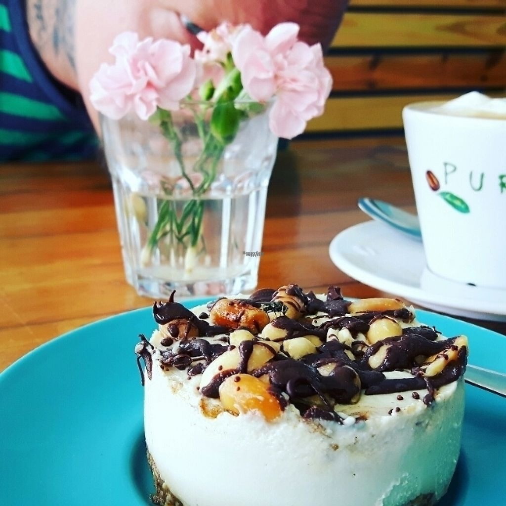 """Photo of Max & Bee Juicery  by <a href=""""/members/profile/dina_v"""">dina_v</a> <br/>Raw Snickers Cheesecake  (raw vegan) <br/> March 21, 2017  - <a href='/contact/abuse/image/83855/239239'>Report</a>"""