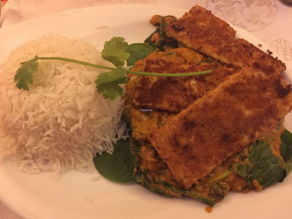 """Photo of Namaste Nepal  by <a href=""""/members/profile/M%C3%A4jedChambah"""">MäjedChambah</a> <br/>fried tofu and spinach <br/> April 9, 2017  - <a href='/contact/abuse/image/83873/246367'>Report</a>"""