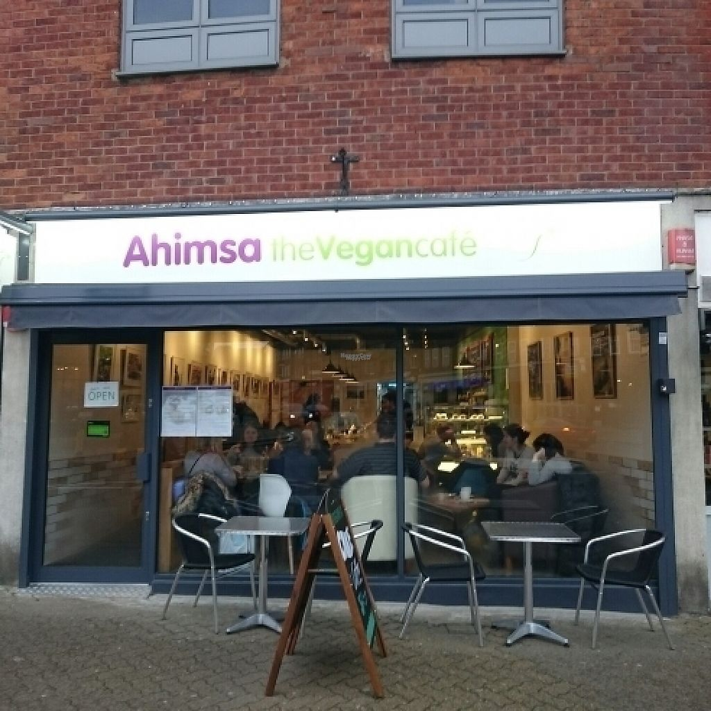 """Photo of Ahimsa The Vegan Cafe  by <a href=""""/members/profile/robz"""">robz</a> <br/>ahimsa shop front  <br/> February 27, 2017  - <a href='/contact/abuse/image/83881/231064'>Report</a>"""