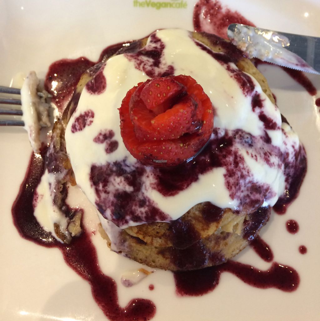 """Photo of Ahimsa The Vegan Cafe  by <a href=""""/members/profile/Alisonc"""">Alisonc</a> <br/>pancakes  <br/> April 9, 2017  - <a href='/contact/abuse/image/83881/246145'>Report</a>"""