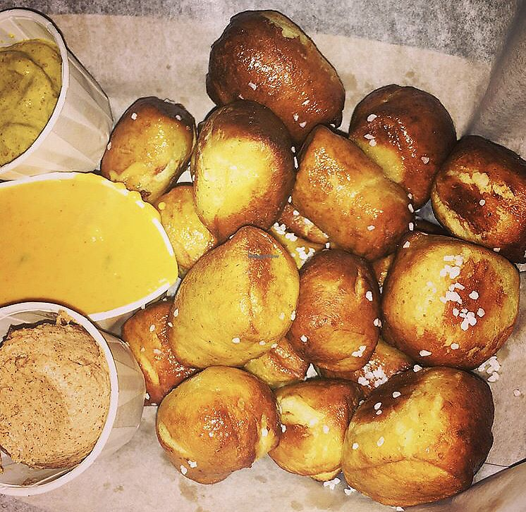 "Photo of Woodhouse Vegan Pop-Up  by <a href=""/members/profile/Tabgreenvegan"">Tabgreenvegan</a> <br/>Vegan Soft Pretzel Bites <br/> March 29, 2018  - <a href='/contact/abuse/image/83895/377777'>Report</a>"