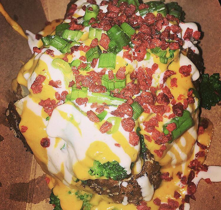 "Photo of Woodhouse Vegan Pop-Up  by <a href=""/members/profile/Tabgreenvegan"">Tabgreenvegan</a> <br/>Vegan Loaded Baked Potato <br/> March 29, 2018  - <a href='/contact/abuse/image/83895/377778'>Report</a>"