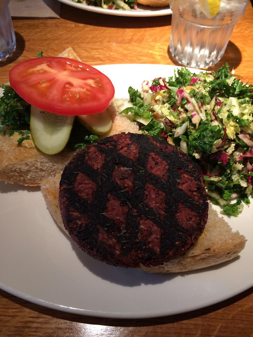 "Photo of Northstar Cafe  by <a href=""/members/profile/vegfoodie91"">vegfoodie91</a> <br/>North Star Burger with simple salad <br/> September 17, 2017  - <a href='/contact/abuse/image/83900/305413'>Report</a>"
