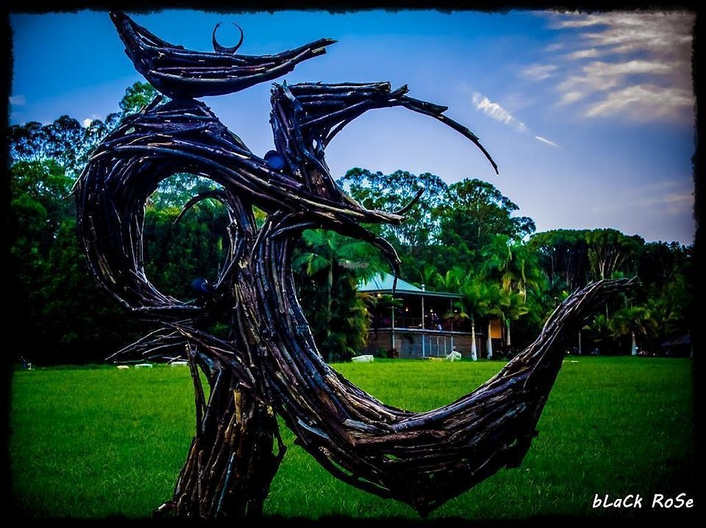 """Photo of Paradise One Retreat  by <a href=""""/members/profile/Lanky"""">Lanky</a> <br/>another view of the 'om' sculpture <br/> December 19, 2016  - <a href='/contact/abuse/image/83938/202801'>Report</a>"""