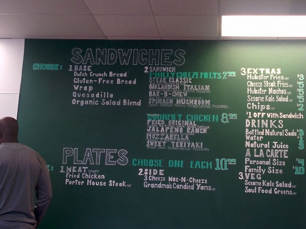 """Photo of The Veg Hub  by <a href=""""/members/profile/MizzB"""">MizzB</a> <br/>Menu board. Plates unavailable at soft opening. Grand opening January 15 with full menu available then <br/> December 16, 2016  - <a href='/contact/abuse/image/83994/201637'>Report</a>"""