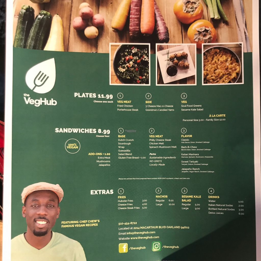 """Photo of The Veg Hub  by <a href=""""/members/profile/Jayla.c"""">Jayla.c</a> <br/>their menu  <br/> January 16, 2017  - <a href='/contact/abuse/image/83994/212404'>Report</a>"""