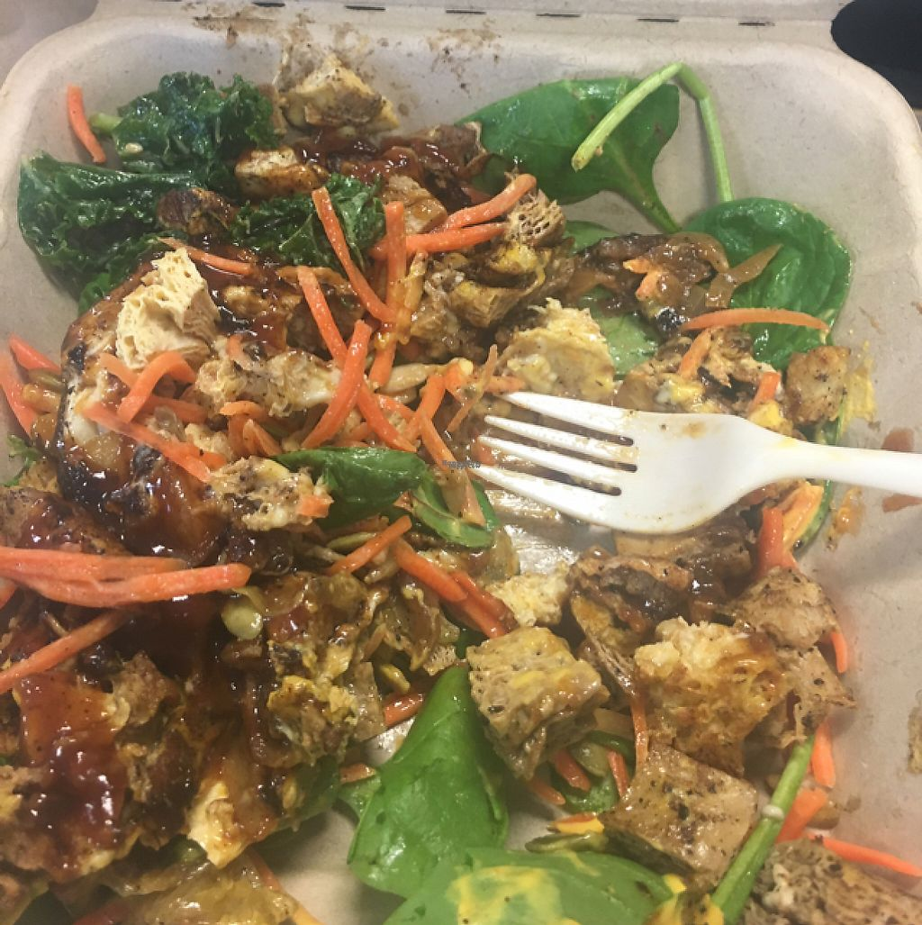 """Photo of The Veg Hub  by <a href=""""/members/profile/Ambergharris"""">Ambergharris</a> <br/>Philly Cheese steak and chicken on salad base <br/> February 7, 2017  - <a href='/contact/abuse/image/83994/223837'>Report</a>"""
