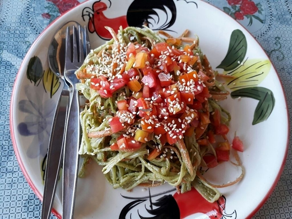 """Photo of Happy Veggie  by <a href=""""/members/profile/LilacHippy"""">LilacHippy</a> <br/>Raw pesto pasta <br/> December 30, 2016  - <a href='/contact/abuse/image/83999/206104'>Report</a>"""