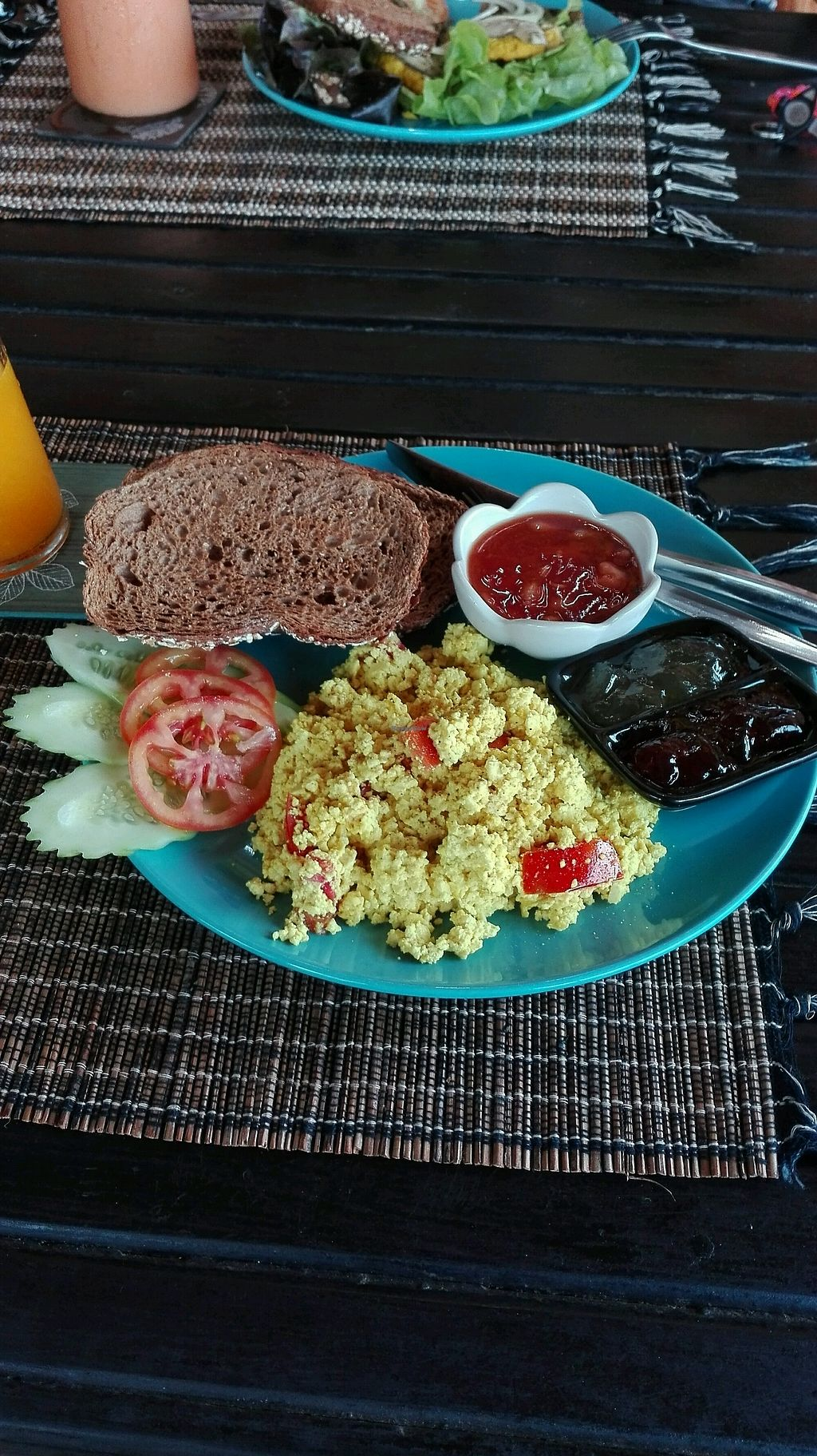 """Photo of Happy Veggie  by <a href=""""/members/profile/Escarabajo"""">Escarabajo</a> <br/>breakfast with vegan egg <br/> January 29, 2018  - <a href='/contact/abuse/image/83999/352242'>Report</a>"""