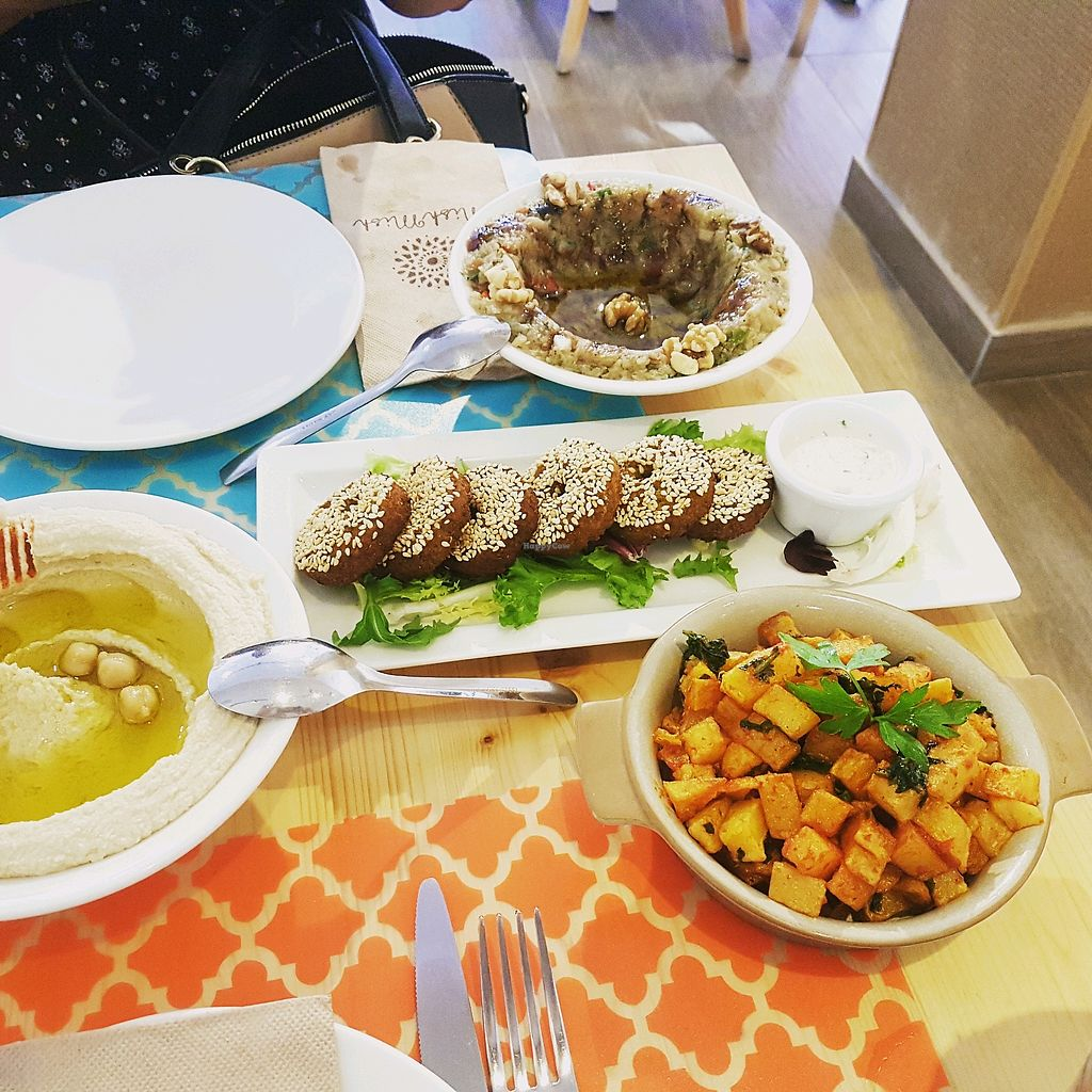 """Photo of Mish Mish  by <a href=""""/members/profile/WesleyMeeus"""">WesleyMeeus</a> <br/>humus, baba ganoush, falafel and spicy potatoes ? <br/> May 17, 2018  - <a href='/contact/abuse/image/84011/401082'>Report</a>"""
