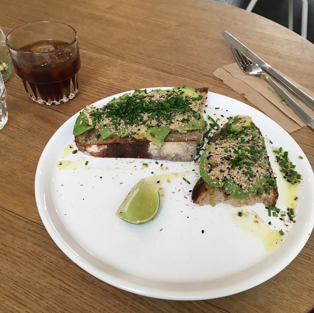 """Photo of Mok  by <a href=""""/members/profile/CatMcAlister"""">CatMcAlister</a> <br/>avocado toasts and cold brew  <br/> March 11, 2017  - <a href='/contact/abuse/image/84017/235228'>Report</a>"""