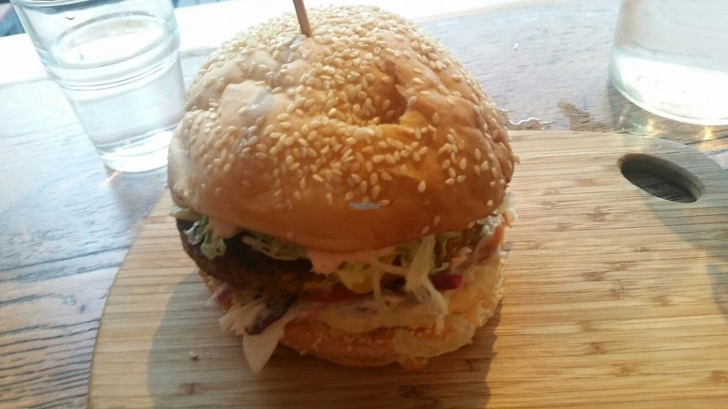 """Photo of Herbivore Eatery  by <a href=""""/members/profile/KatieBatty"""">KatieBatty</a> <br/>Get Veg'd burger <br/> March 17, 2017  - <a href='/contact/abuse/image/84024/237668'>Report</a>"""