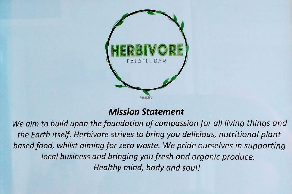 """Photo of Herbivore Eatery  by <a href=""""/members/profile/verbosity"""">verbosity</a> <br/>Mission Statement <br/> April 8, 2017  - <a href='/contact/abuse/image/84024/245910'>Report</a>"""