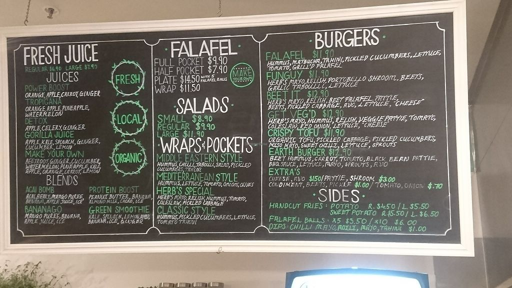 """Photo of Herbivore Eatery  by <a href=""""/members/profile/jesse558"""">jesse558</a> <br/>august menu 2017 <br/> August 8, 2017  - <a href='/contact/abuse/image/84024/290409'>Report</a>"""